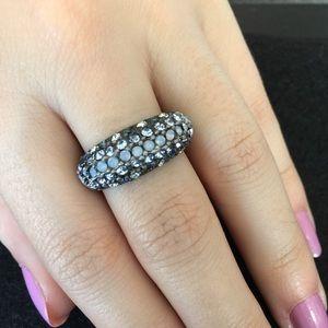 Lia Sophia Blue Crystal Ring  Size 10